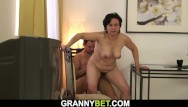 Old women fucking vids Old woman loves to fuck with young