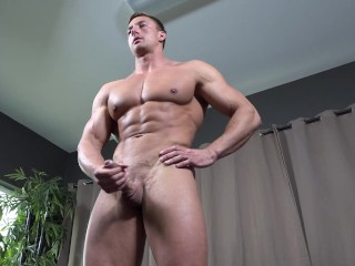 ActiveDuty – Jacked Muscle Hunk Strokes His Big Dick