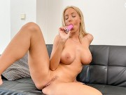 DoeGirls - Emily Bright Busty Czech MILF Intense Solo Masturbation At Home With Her Toy