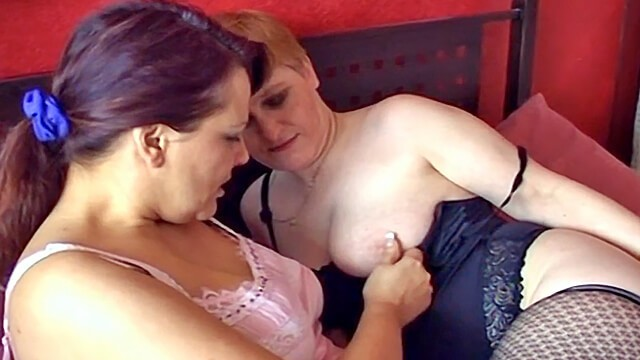 Homemade older women play together