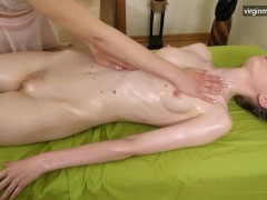 Virgin Cunt Ejaculating From Girly-girl Massage