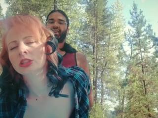 Redhead milf Dani-Rae  Diamond begs for anal in outdoor public fuck