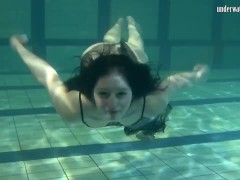 Swimming Naked In Swimming Pool Lonely Honey Irina