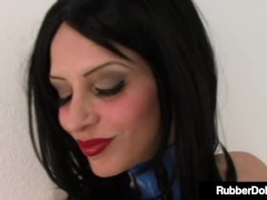 Shiny Hoes Rubberdoll & Raven Dark-hued Stuff Rosy Poons With Gigantic Cock!
