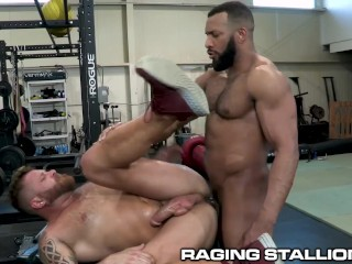 RagingStallion – Beefy Muscle Bears Fuck At Gym
