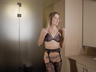 Sexy TRY on HAUL – Very beautiful girl in black lingerie