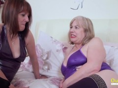 Two crazy hot mature ladies enjoying time together