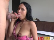 Latina With Huge Tits Deepthroatin Massive Dick