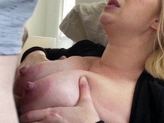 My Big Breasts Get Fondled, Titty-Fucked, and Glazed with Cum