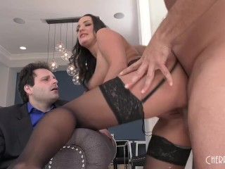 Busty Brunette Slut Wife Cucks and Humiliates Her Worthless Husband With Dance Instructor