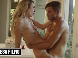 Bellesa – Sexy Aiden Ashley Seduces A Top Notch Chef Nathan Bronson To Cater Her