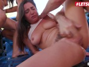 ScamAngels - Gina Valentina Big Booty American Teen And Her BFF's Hardcore Outdoor Foursome Sex