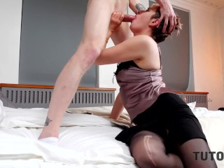 TUTOR4K. Strict tutor doesnt mind having quick sex with new student