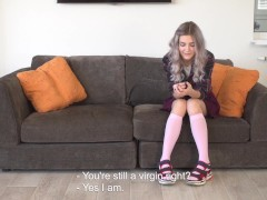 Russian young babe Tieny Mieny virgin casting