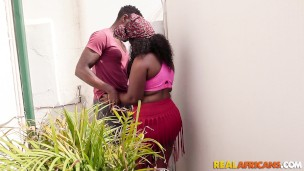 Amateur African Bbw Taking A Black Cock in Tight Ass