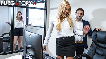 PURGATORYX Naughty blonde is willing to do whatever it takes to get a raise