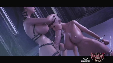 Bloodlust Lanessa Bloodcrown Preview - Blonde vampire Cerene gets tits fucked by futanari dickgirls