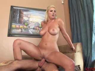 Hot blonde wives like Emilianna ALWAYS pick up young horny guys