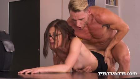 PRIVATE com - Busty Brunette Step Sister Natali Ruby Milks Bro s Big Dick!