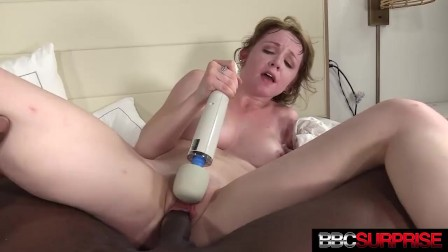Sexy Nikole Nash Cums Spooning A Black Stud While Magic Wand Rubs Her Clit!
