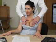 LOAN4K. Girl earns a lot of money for own massage center having sex