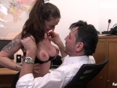 ReifeSwinger - Chubby German Matures Share Big Cock In Steamy Threeway With Boss