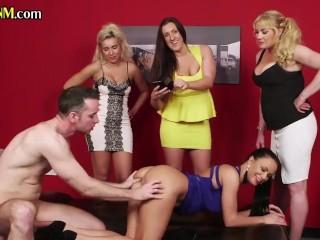 CFNM voyeur babes enjoying after handjob