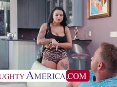Naughty America - Payton Preslee has her boobs touched, fucked, sucked, and licked by her friends boyfriend