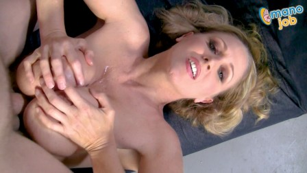 M.I.L.F. Cougar Julia Ann stars in the ManoJob video One More Coog Session!