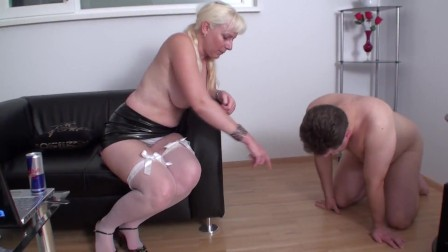 she spit on the ground and slave have to lick it off