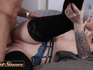 Sweet Sinner – Tattoed Milf Crystal Taylor cheats for first time with Big cock hunk