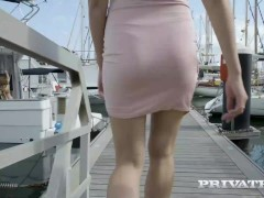 PRIVATE com - Spoiled Blonde Stacy Cruz Rides A BBC In Her Yacht's Cabin!