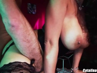 Big titty escort Carmella Bing passed around double fucked anal