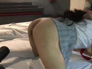 Colegiala mexicana de secundaria recibe el mejor sexo anal de su vida