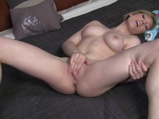 Lily LaBeau stars in the ManoJob point-of-view hand job video Lily La Load!