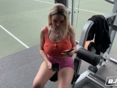 BJRAW Naughty naturally busty blonde Skylar Vox throat fucked by a big dick