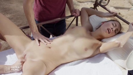 ULTRAFILMS Beautiful Czech girl Paula Shy professionally taking on two cocks and getting fucked very nicely