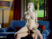 ULTRAFILMS Russian blonde girl Arteya gets really horny and asks a stranger to bang her