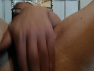 Tried my triple dick, need to work up to taking it. Fucking both holes til I cum. That muscle flex t